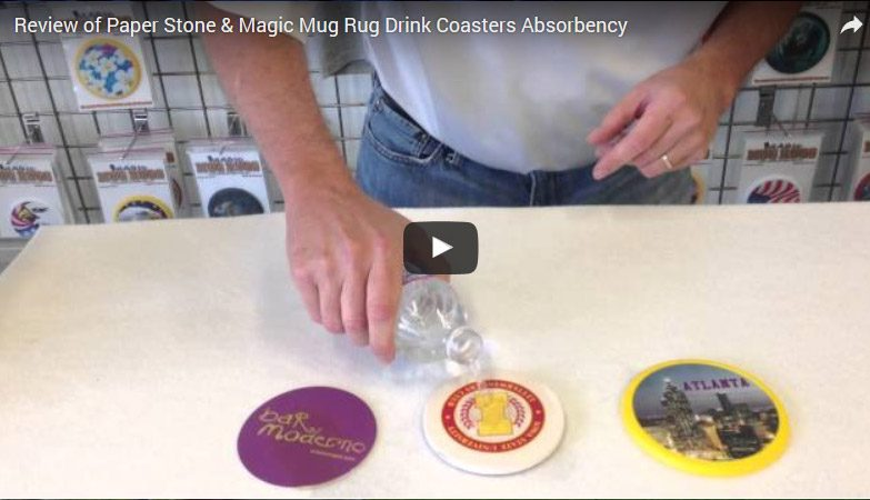 Review: Paper and Thirsty Stone Coasters Vs. Ours