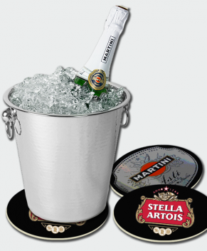Large Ice Bucket Coaster 10″